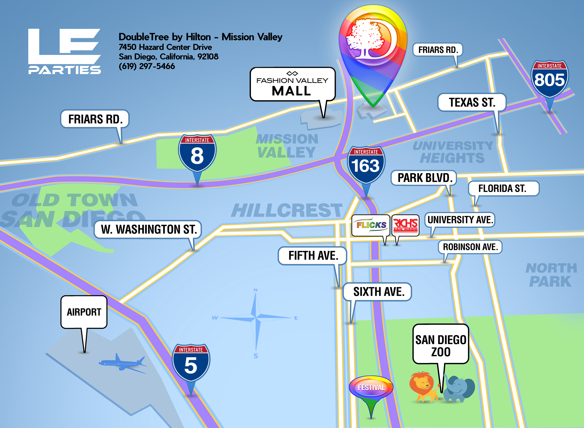 Fashion Valley San Diego Map.San Diego Pride Le Parties